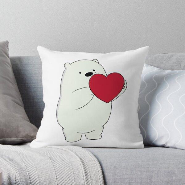 We Bare Bears Ice Bear Throw Pillow