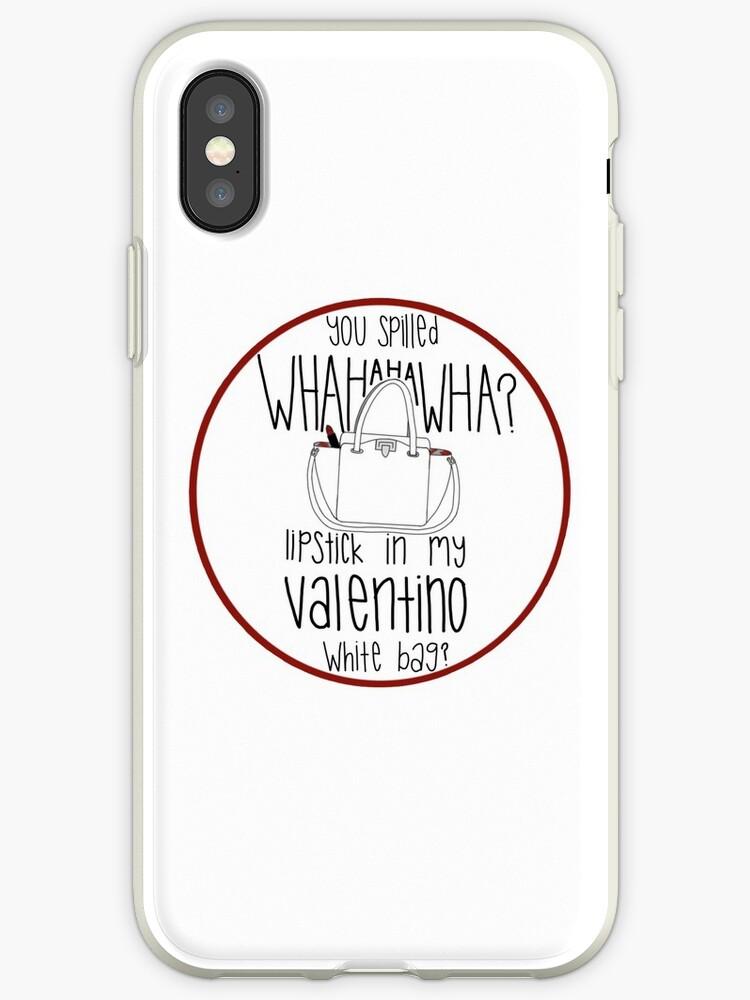 b6a2260d7d32 WHAHHAHAWAHHA lipstick in my valentino white bag  (vine)