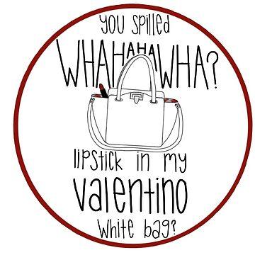 5b99ec4295e5 WHAHHAHAWAHHA lipstick in my valentino white bag  (vine)