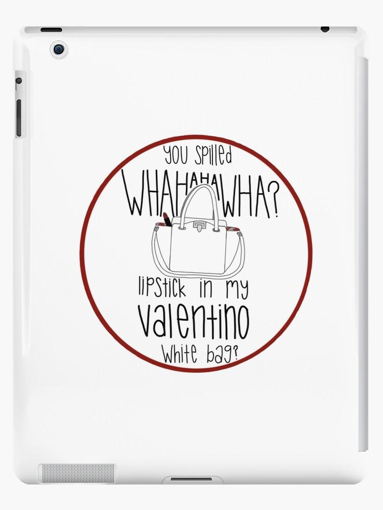 15c73bb300c1 WHAHHAHAWAHHA lipstick in my valentino white bag  (vine)