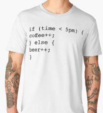Coder Computer Science Coffee Beer Men's Premium T-Shirt