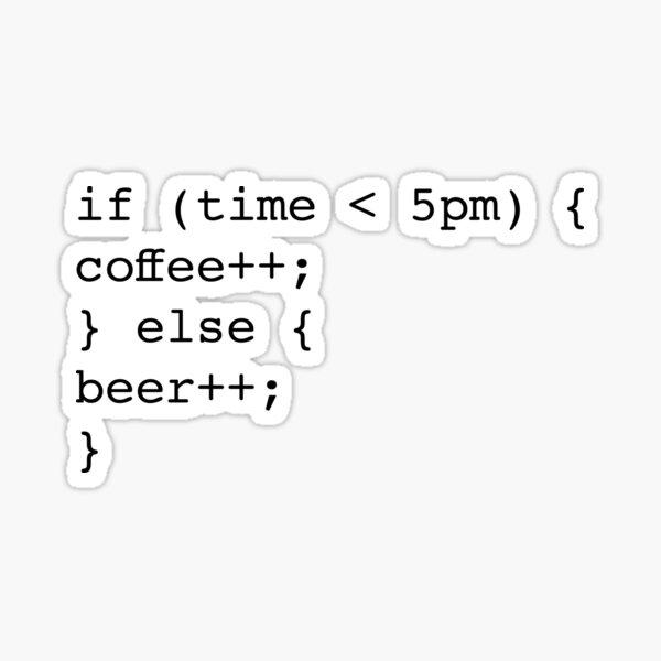 Codeur informatique la bière café Sticker