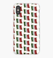 Italian Flag With Gold Trim - Multiple and single Flags iPhone Case/Skin