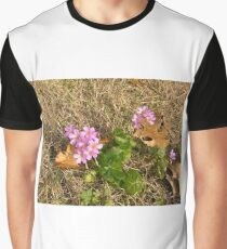 Purple Wildflowers in the Winter Grass Graphic T-Shirt