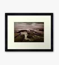 Bar Beach Rock Platform Framed Print
