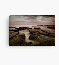 Bar Beach Rock Platform Canvas Print