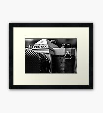 Pentax film Camera Framed Print