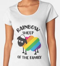 Rainbow Sheep Of The Family LGBT Pride Women's Premium T-Shirt