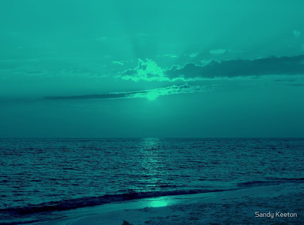 Sunset Over Sea by Sandy Keeton