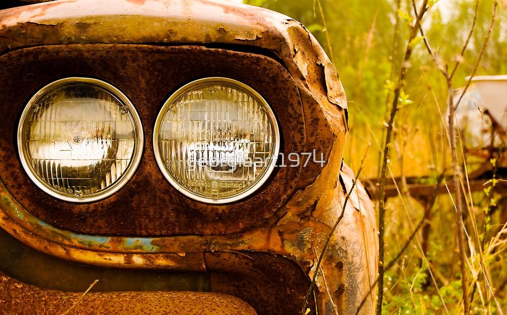 Rusty Truck HeadLights by georgiaart1974