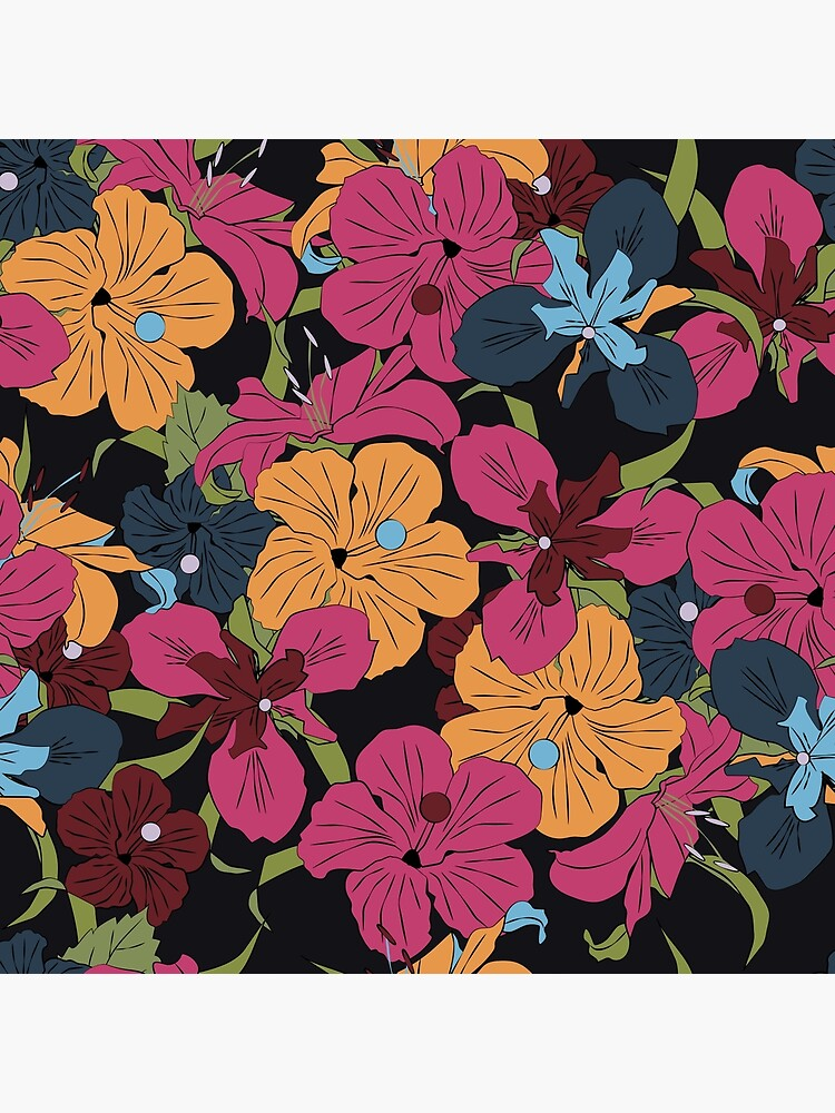 Dark Floral v2 by MeredithWatson