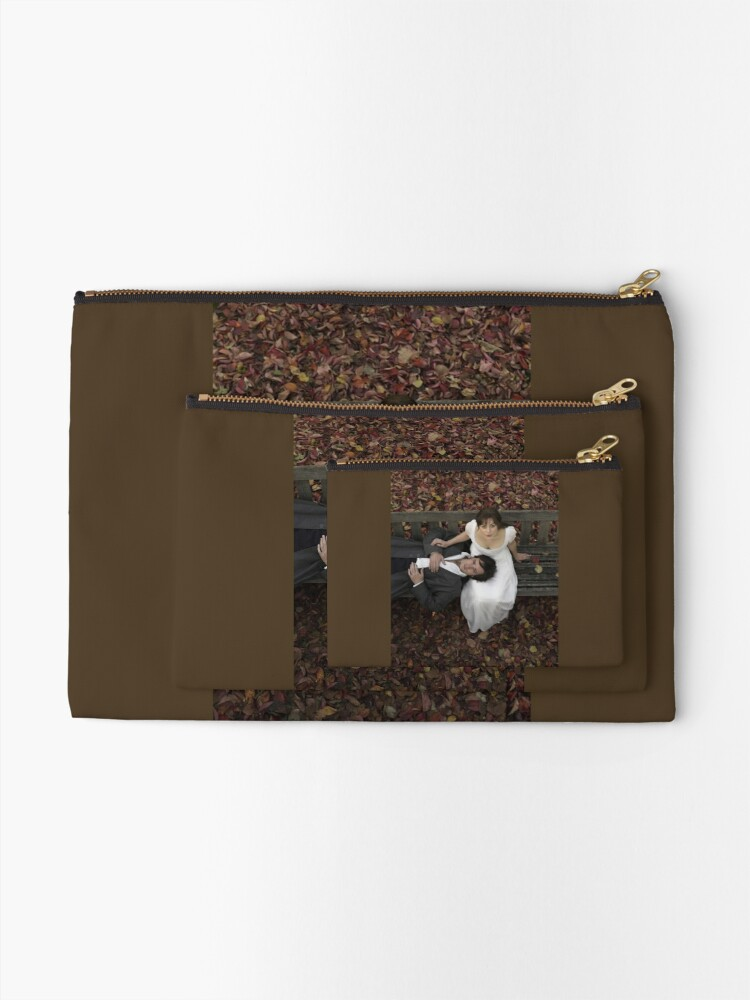 Alternate view of Pride and Prejudice in Autumn [Click to see items with this design] Zipper Pouch