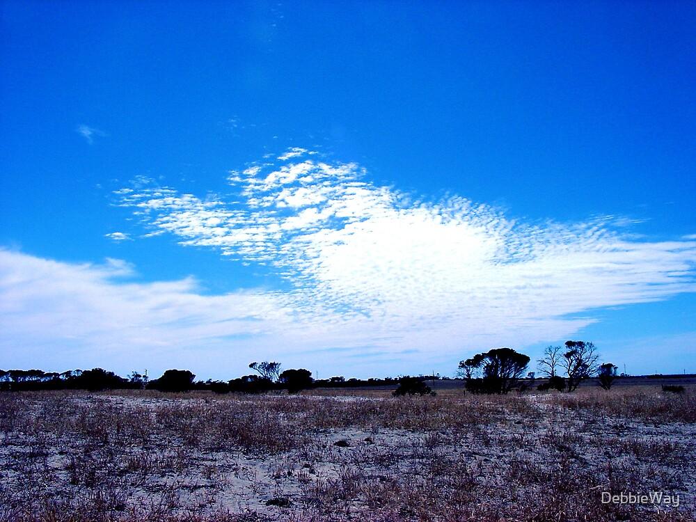 White cloud Blue sky by DebbieWay