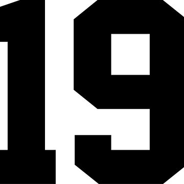 19. Number nineteen on shirts and stuff. by Swaygo