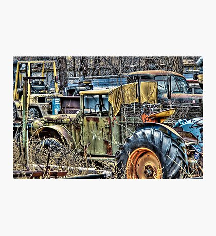 More Junk Trucks Photographic Print