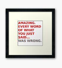 Luke Skywalker Quote Framed Print