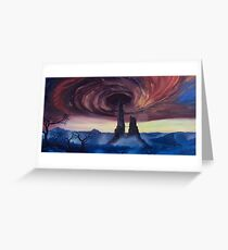 The Vortex - Borderlands 2 Inspired Oil Painting Greeting Card
