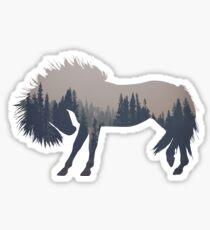 Woodland Horse Sticker