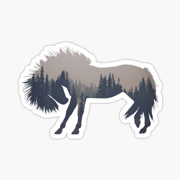Cheval des bois Sticker