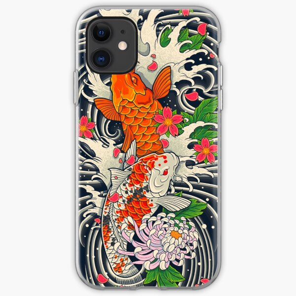 Koi Fish Pond  iPhone Soft Case