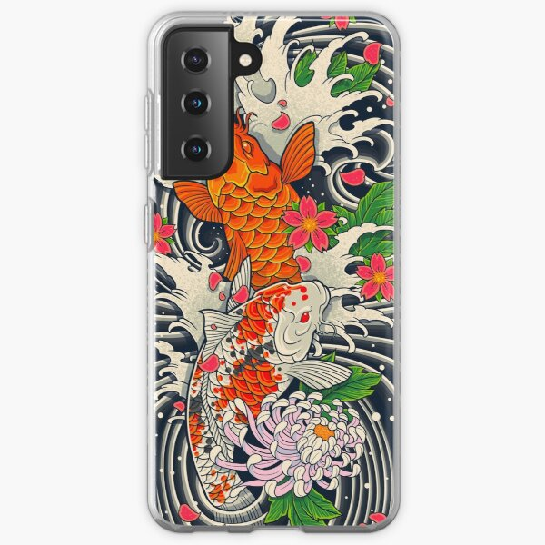 Koi Fish Pond  Samsung Galaxy Soft Case