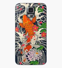 Koi Fischteich Hülle & Klebefolie für Samsung Galaxy