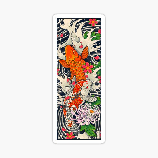 Koi Fish Pond  Sticker