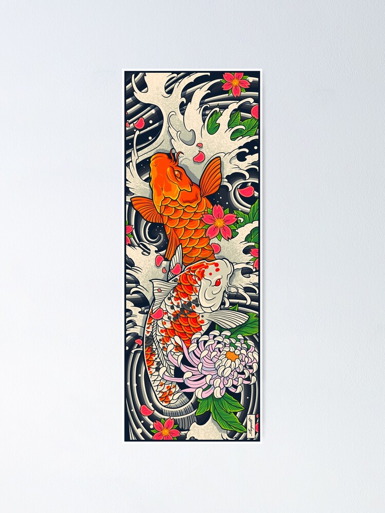 Alternate view of Koi Fish Pond  Poster