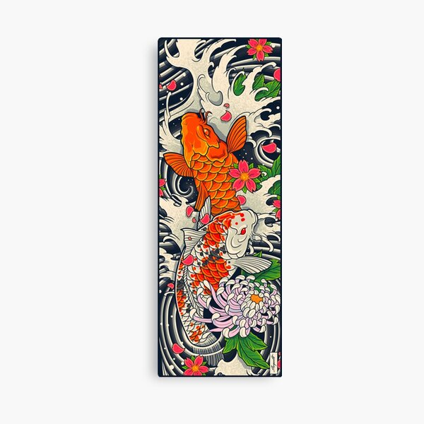 Koi Fish Pond  Canvas Print