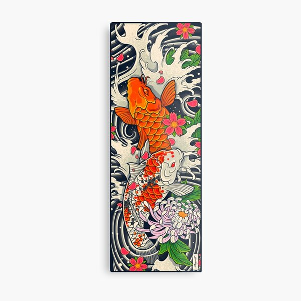Koi Fish Pond  Metal Print