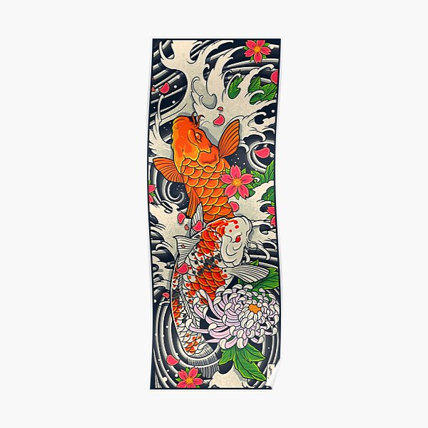 Koi Fish Pond  Poster