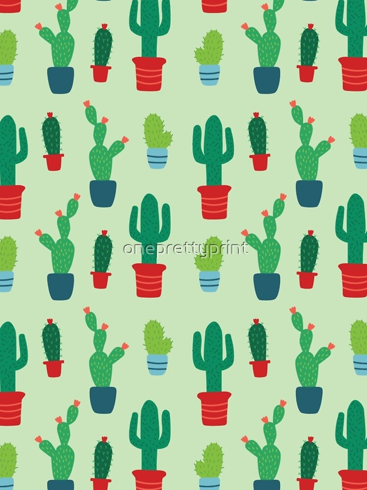 Cactus Love Patterned Print by oneprettyprint