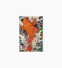 Koi Fish Pond  Art Board Print