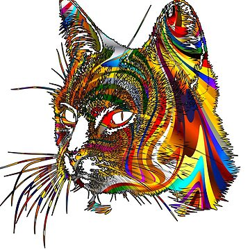 Psychedelic Cat by SourPeach