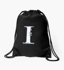 Industrial Illusions Inc. Logo (White) Drawstring Bag