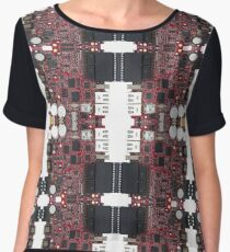 Pairpunk, Cyberpunk, Techno Punk,Technopunk,  Science Fiction Chiffon Top