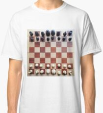Chessboard, chess pieces Classic T-Shirt