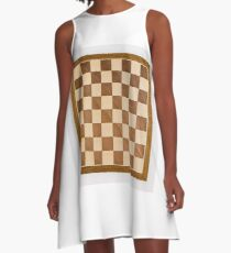 Chess board, playing chess, any convenient place A-Line Dress