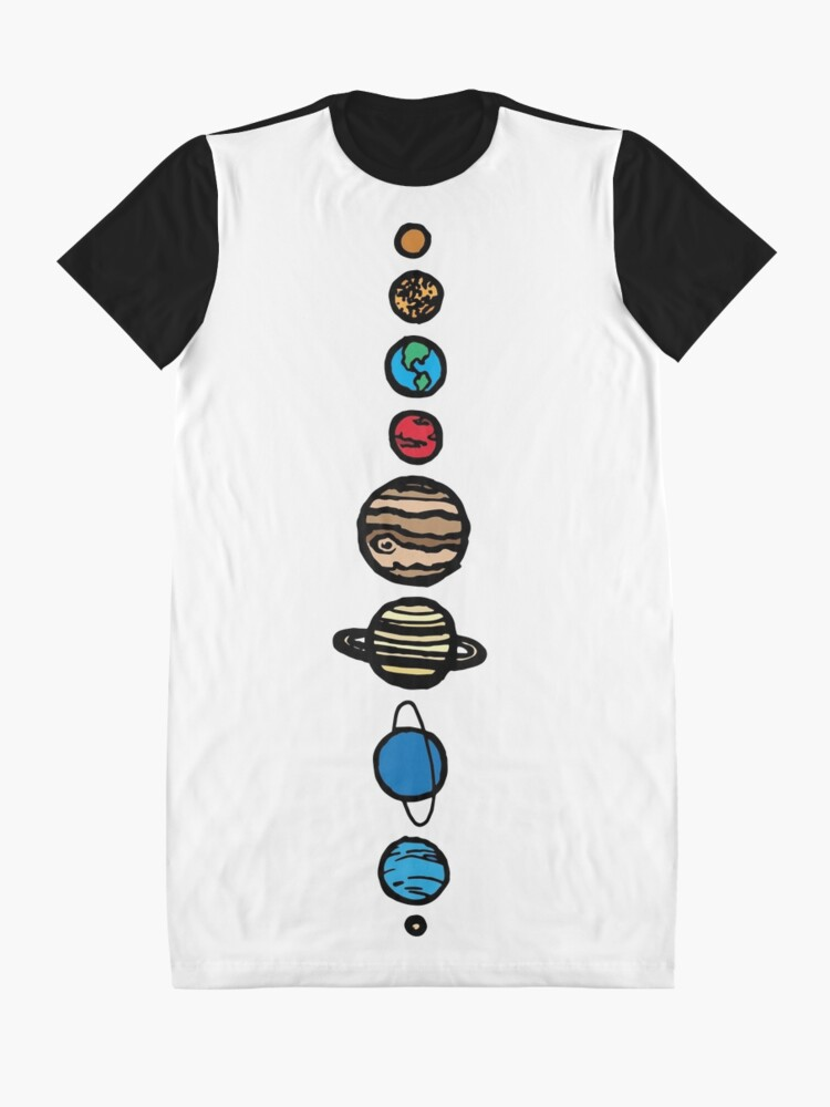 Alternate view of Planets Colour Graphic T-Shirt Dress