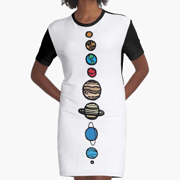 Planets Colour Graphic T-Shirt Dress