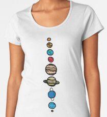 Planets Colour Women's Premium T-Shirt