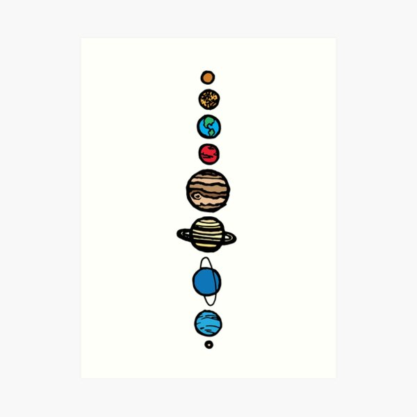 Planets Colour Art Print
