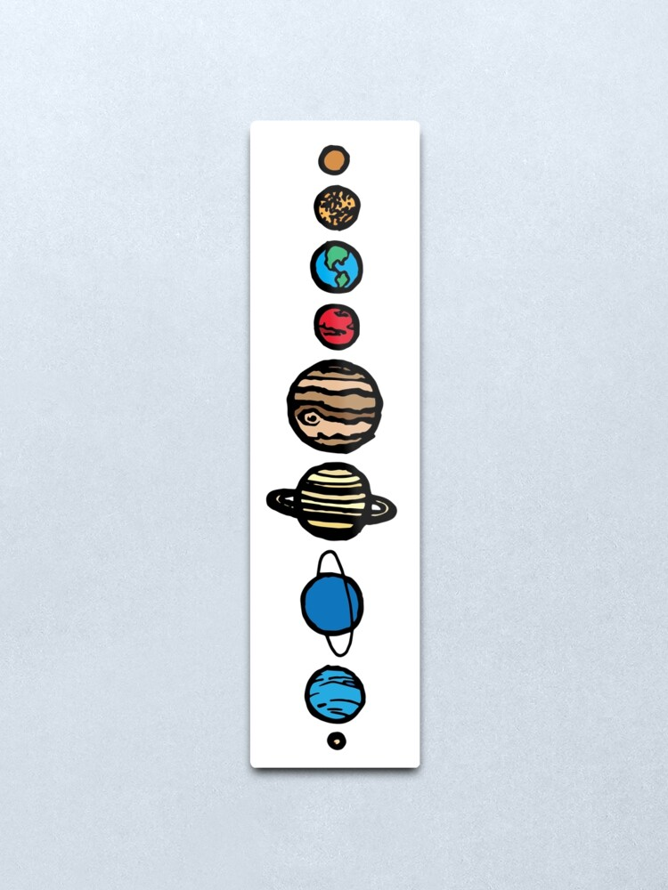 Alternate view of Planets Colour Metal Print