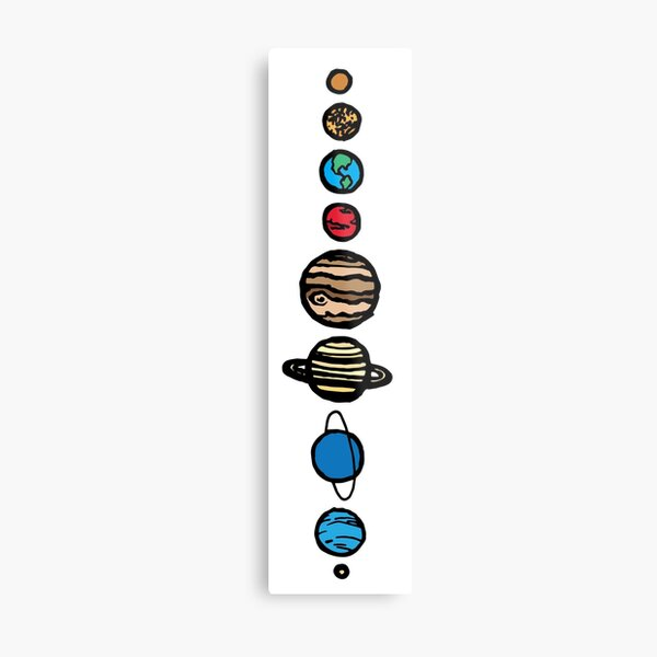Planets Colour Metal Print
