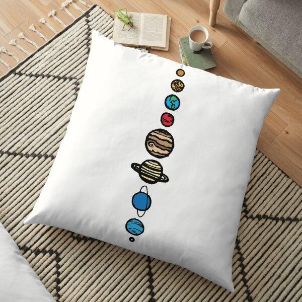 Planets Colour Floor Pillow