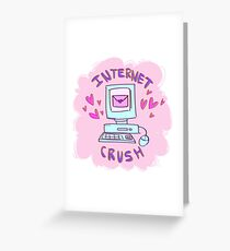 internet crush tumblr aesthetic Greeting Card