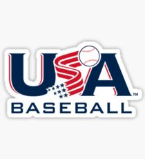 Pegatina Béisbol USA Logo V2
