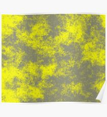 Yellow on Grey 50 100 DP  Poster