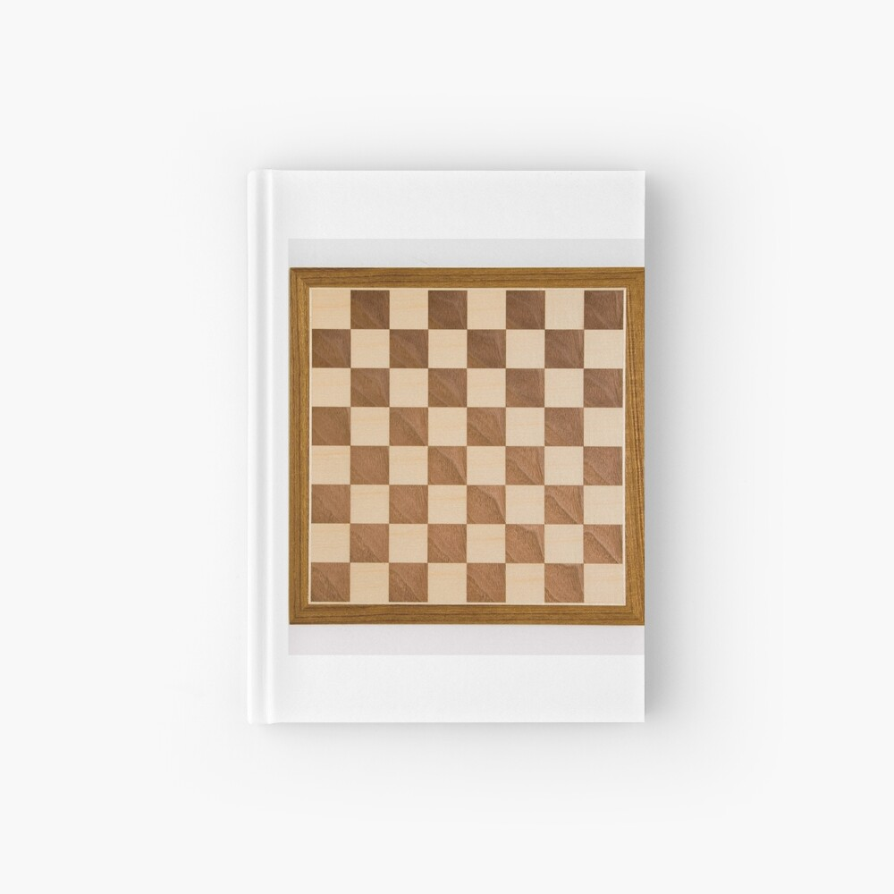 Chess board, playing chess, any convenient place Hardcover Journal