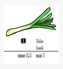 Take Leek Photographic Print
